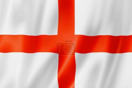 Photo pour Drapeau de l'Angleterre, rendu en trois dimensions, texture satin - image libre de droit