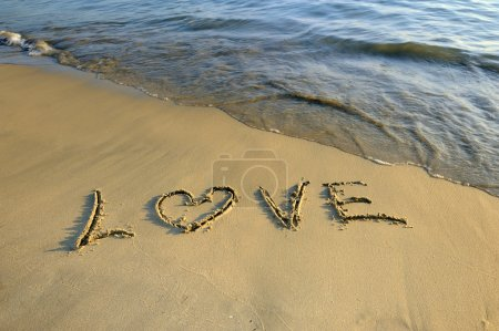 Photo for Love in the sand - Royalty Free Image