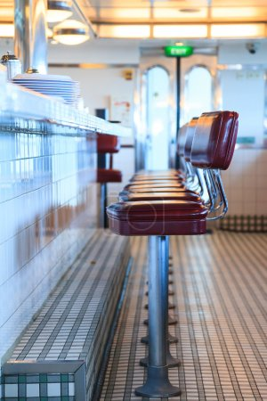 Photo for An empty diner awaits its first customers of the day - Royalty Free Image