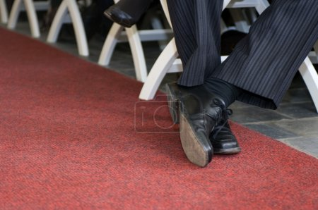 Crossed dress shoes