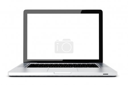 Photo pour Ordinateur portable 3d sur fond blanc - image libre de droit