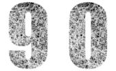 Abstract Black and White Font Numbers 9 and 0