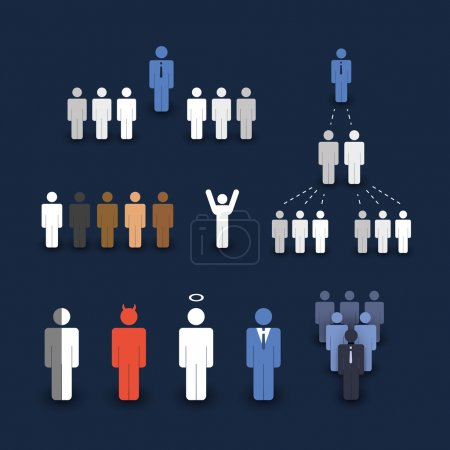 Figures and Icons - Business and Team Work Concept