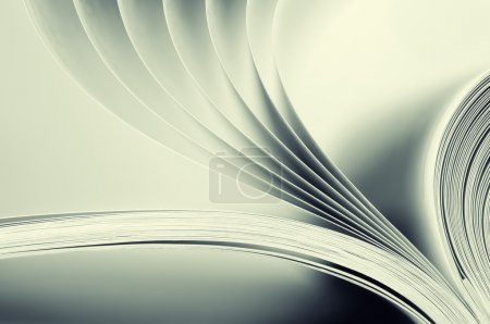 Photo for Macro view of book pages. Toned - Royalty Free Image