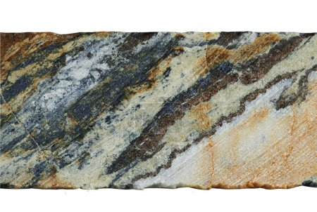 A sample of oxidized ore mining silver on a white ...