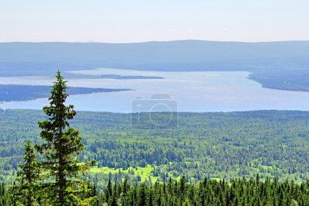 Mountainous lake Zyuratkul in Russia...