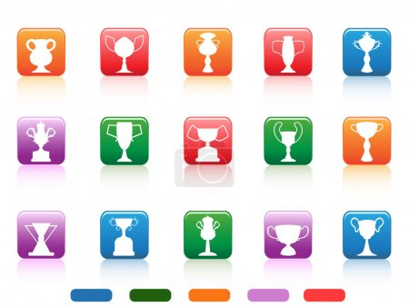 Champion cup buttons icon