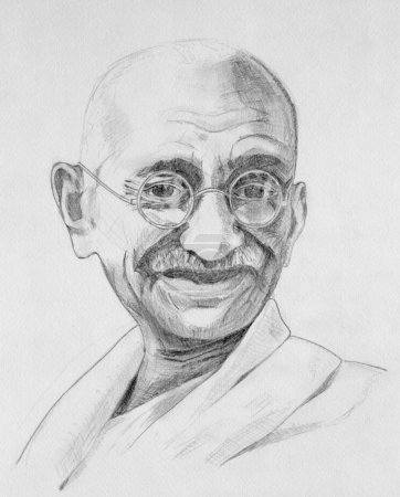 Махатма Ганди портрет