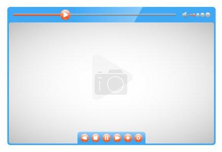 Photo pour Illustration de qualité lecteur vidéo - image libre de droit