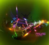 Abstraktní hudební pozadí
