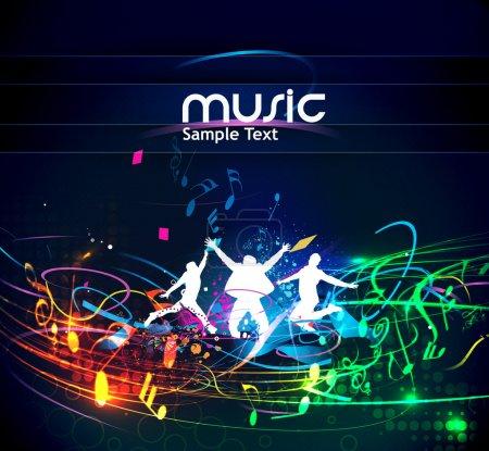 Illustration pour Fond musical abstrait pour la conception d'événements musicaux. illustration vectorielle . - image libre de droit