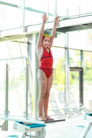 Child on diving board