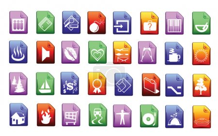 Illustration for Colored icon set in editable vector format - Royalty Free Image