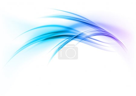 Illustration for Blue abstract curves on the white background - Royalty Free Image