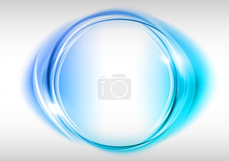 Illustration for Blue circle on the light background - Royalty Free Image