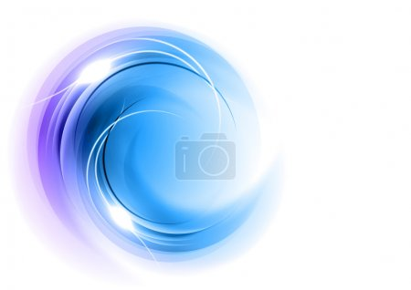 Illustration for Abstract round shape in the blue - Royalty Free Image