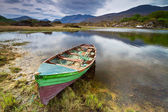 Boat at the Killarney lake in Co. Kerry