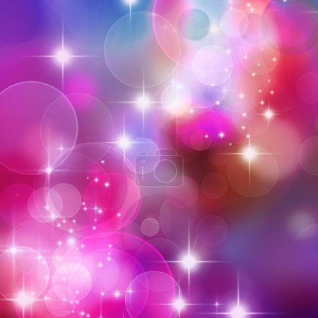 Photo for A bright background with blue, purple and pink bokeh effects - Royalty Free Image