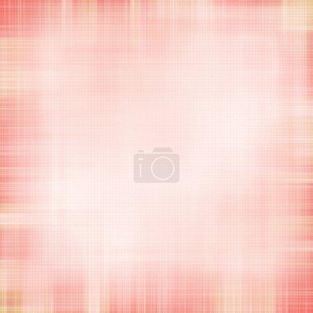 Photo pour Shabby textile Arrière-plan avec des rayures croisées roses et blanches colorées - image libre de droit