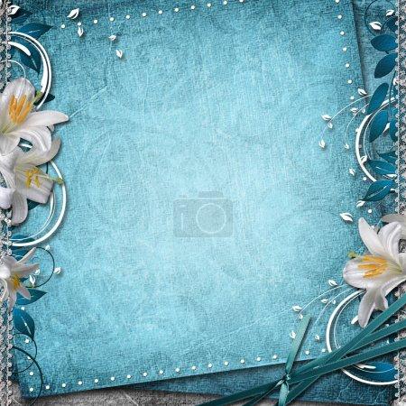Photo pour Vintage fond floral - image libre de droit