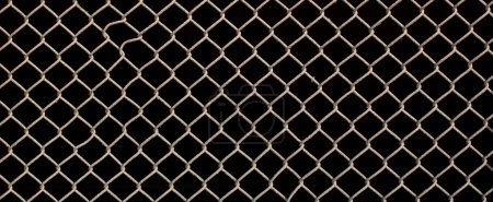 Metal grille fence