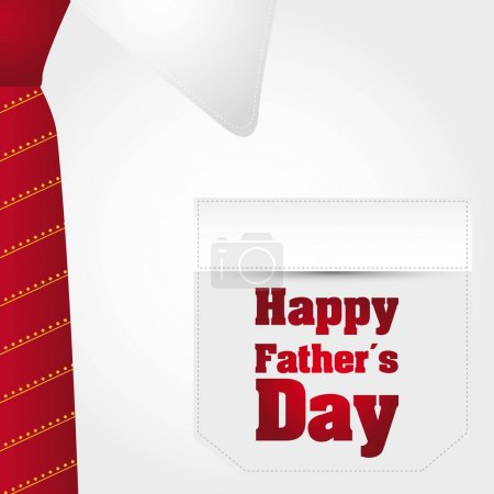 Illustration for Happy fathers day text over business t shirt background. vector - Royalty Free Image