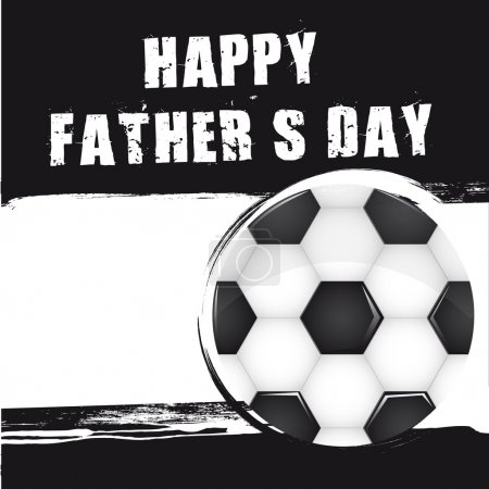 Illustration for Soccer ball over grunge background, fathers day. vector - Royalty Free Image