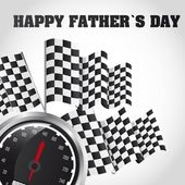 Speed racing happy fathers day card vector illustration