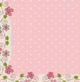 Pink cute background with flower vector illustration