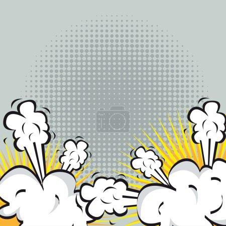 Illustration pour Illustration d'une explosion ou un combat dans la bande dessinée. illustration vectorielle - image libre de droit