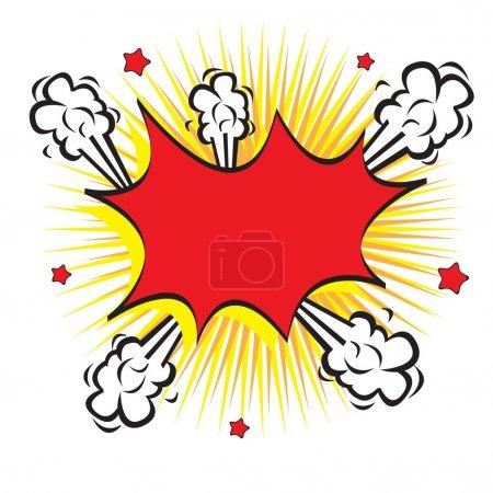 Illustration pour Comique dans l'explosion des bulles sur fond blanc - image libre de droit