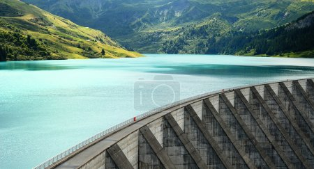Famous Roselend dam in french alps, Savoy, France...