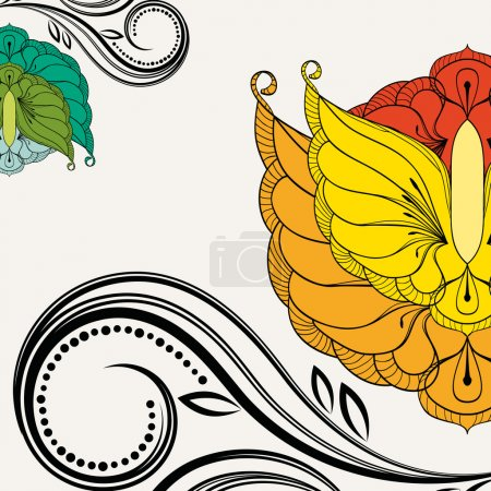 Oriental floral background. Element for design.