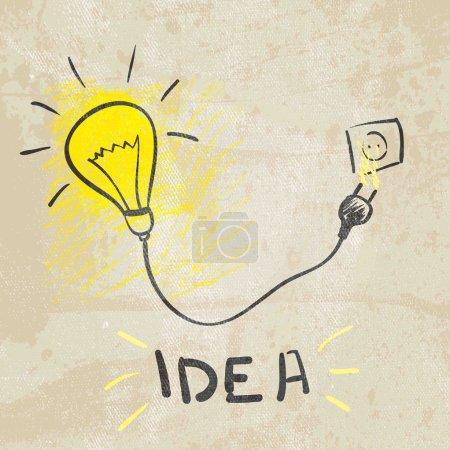 Illustration pour Lampe innovante. idée concept - image libre de droit