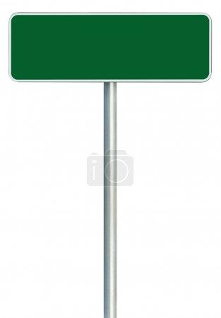 Blank Green Road Sign Isolated, Large White Frame Framed Roadsid