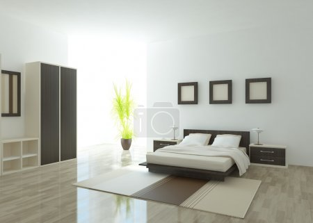 Photo for Modern bedroom interior - Royalty Free Image
