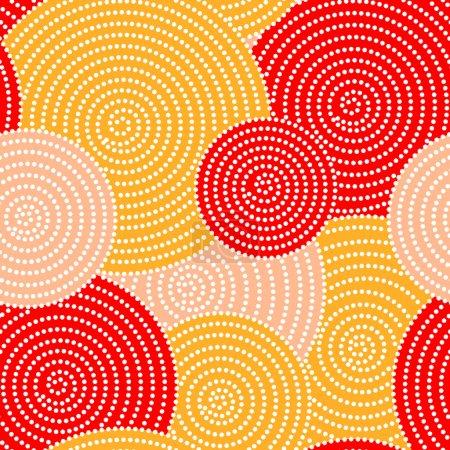 Japanese autumn seamless circle dots kimono patter...