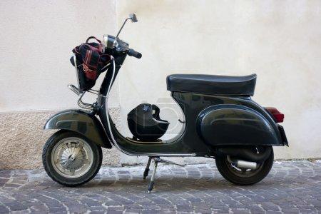 Black vintage scooter