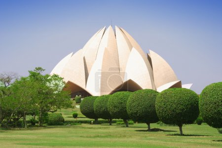Photo pour Temple du Lotus à new delhi, Inde - image libre de droit