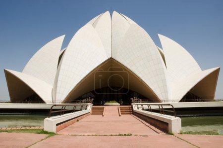 Photo pour Bahai temple du lotus à new delhi, Inde - image libre de droit