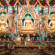 The Buddhist temple at Kushalnagar in South India...