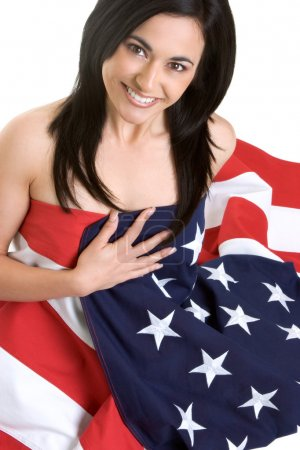 Photo for Flag Woman - Royalty Free Image