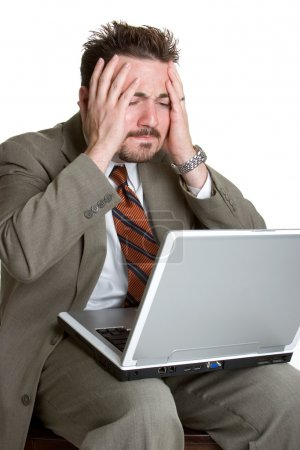 Photo for Frustrated Laptop Man - Royalty Free Image