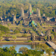Aerial view of Angkor Wat from a helium balloon...