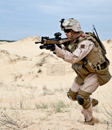 Fighting in the desert
