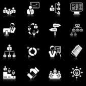 Management icons - black series