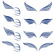 Elements of design racing wings. Illustration on w...