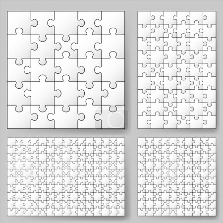 Various sizes puzzle. Illustration for design...