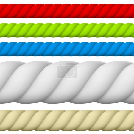 Illustration for Illustration of Different size and color Rope. - Royalty Free Image