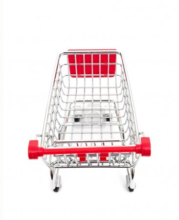 Shopping cart isolated on the white background